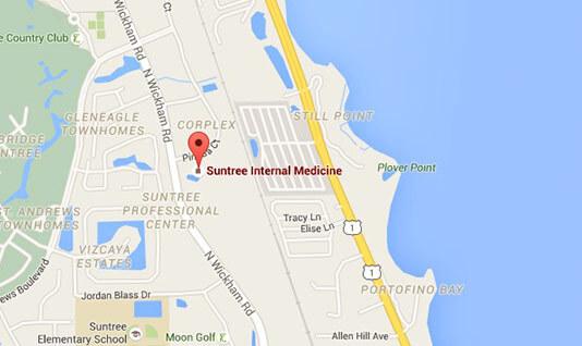 Map Of Florida Melbourne.Suntree Internal Medicine Melbourne Suntree Florida